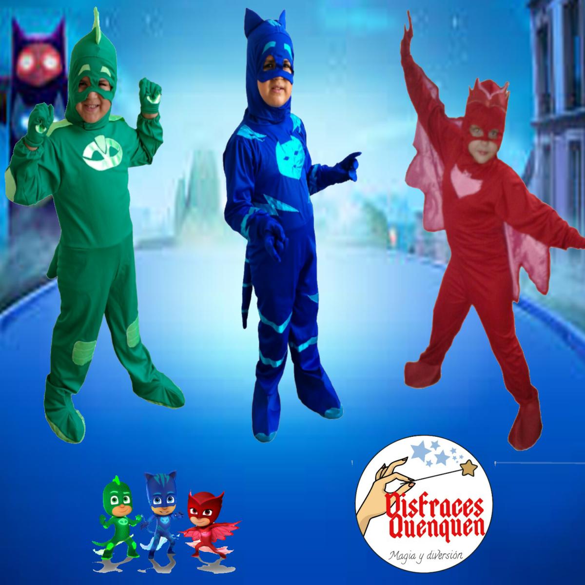 Disfraces de PJ Masks –                Héroes en Pijama