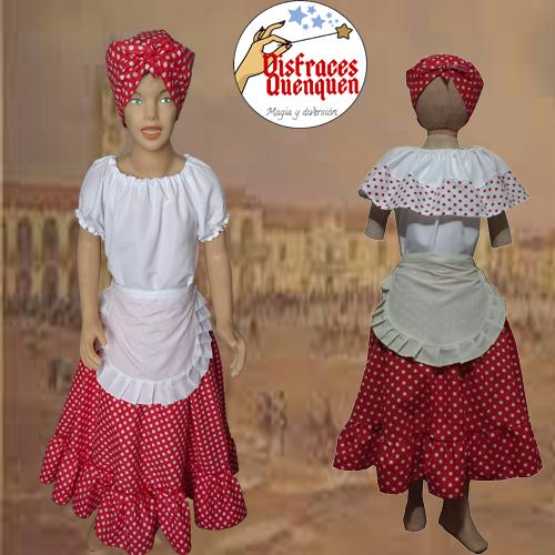 Disfraz de Negrita Candombera